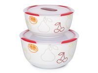 Set de boluri din ceramică Clip Fresh OURSSON BS4781RC/DC, 2 buc