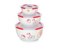 Set de boluri din ceramică Clip Fresh OURSSON BS2981RC/DC, 3 buc