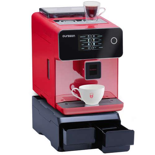 Espressor Semiprofesional Superautomat Oursson AM6250/RD-PRO, 19 bar, ecran tactil color, 6 băuturi, filtru de apă, râșniță ceramică, opțiune cafea măcinată, roșu