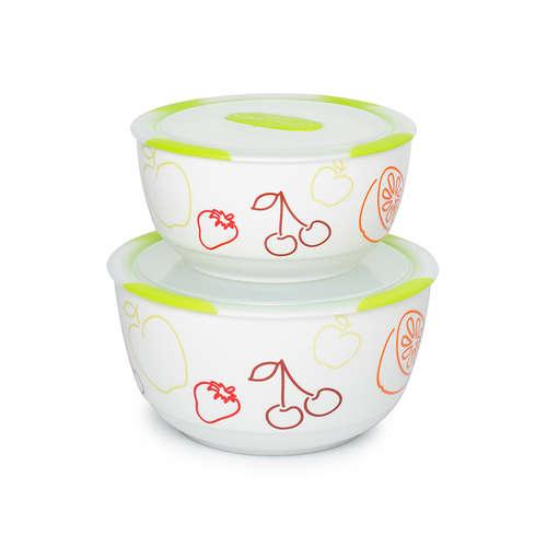 Set de boluri din ceramică Clip Fresh OURSSON BS4781RC/GA, 2 buc