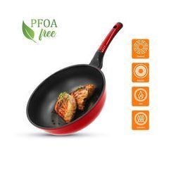Tigaie Wok Diamond OURSSON PW2600D/RD, 26 cm