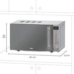 Cuptor cu microunde BBK 20MWS-721T/BS-M, 4 ani garantie, 700W, 20 L, 5 niveluri de putere, functie de decongelare, gri