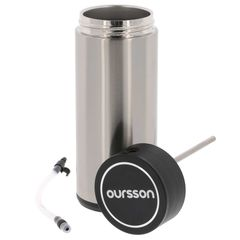 Recipient Oursson pentru lapte, termoizolant, inox, pentru espressor AM6250/RD, 400 ml, MJ97019
